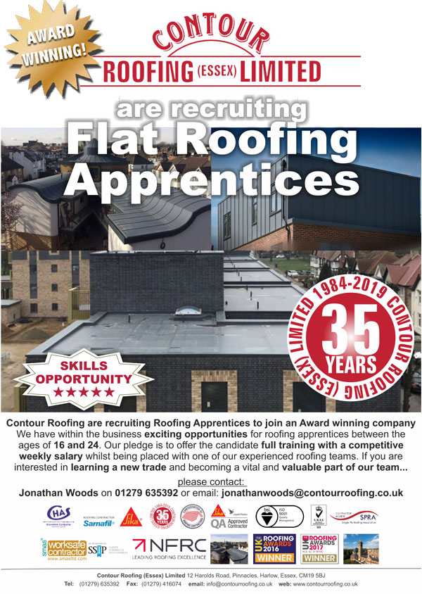 Skills Opportunity - Flat Roofing Apprentices